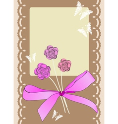 Scrapbook card vector