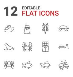 Sea icons vector