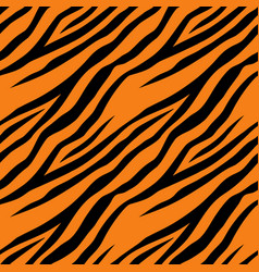 seamless pattern with tiger stripes design vector image