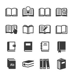 Set book icon image vector