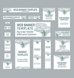 Set of banners for travel agency vector