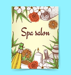 Sketch spa poster vector image