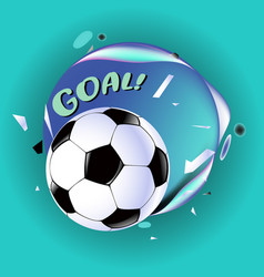 Soccer design background and template football vector