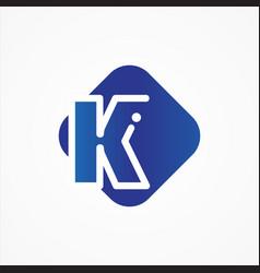 square symbol letter k design minimalist vector image
