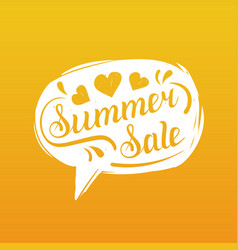 Summer sale lettering in speech bubble season vector