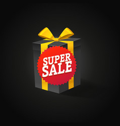 Super sale concept beautiful gift box with red vector