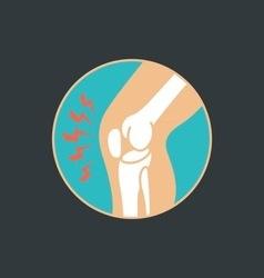 Symbol knee joint bones for orthopedic vector
