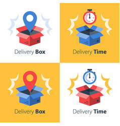 Timely delivery fast service order shipment vector
