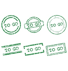 To go stamps vector