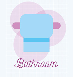 toilet paper roll clean cartoon bathroom vector image