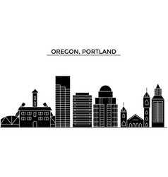 Usa oregon portland architecture city vector