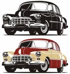 vintage limousine vector image