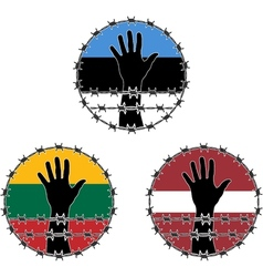 Violation human rights in baltic states vector