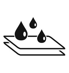 Waterproprotective glass icon simple style vector