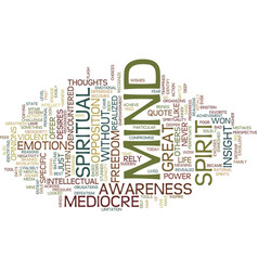 your mediocre mind text background word cloud vector image