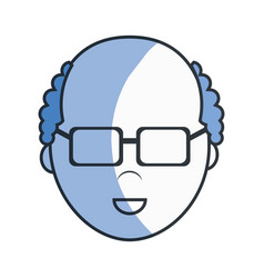Adult man head and face with hair vector