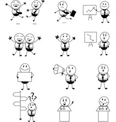 businessman activity set cartoon vector image