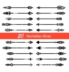 Hand Drawn Doodle Arrows Set vector image vector image