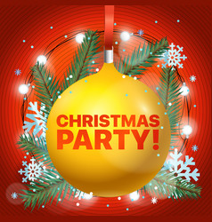 lets party merry christmas and happy new year vector image vector image