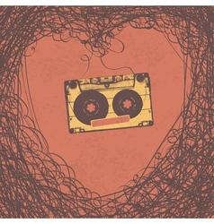 loving retro music poster design vector image vector image