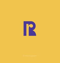 r monogram r logo vector image vector image