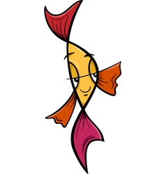 veiltail fish cartoon vector image vector image