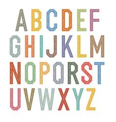 vintage kids alphabet colorful letters vector image vector image