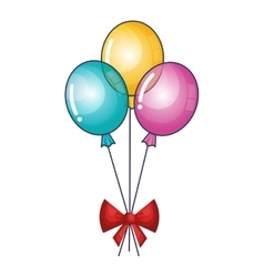 balloons air party isolated icon vector image