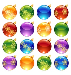 bright christmas decorations vector image vector image