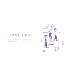 competition web banner with copy space business vector image