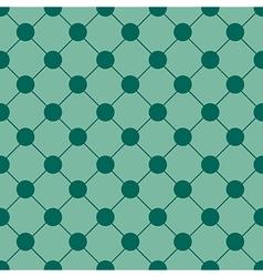 Green polka dot chess board grid background vector