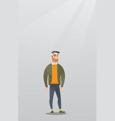 Man with an injured head vector
