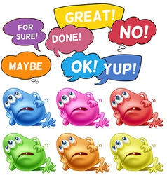 Monsters and speech bubbles vector image