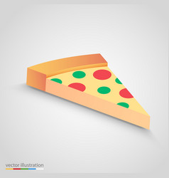 salami pizza slice simple and clean clip vector image