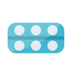 Tablet pills icons vector image