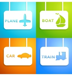 Travel applique background vector image