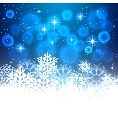 Blue Christmas background with space for text vector image vector image