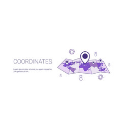 coordinates geographical location concept web vector image