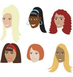 fake hair styles vector image