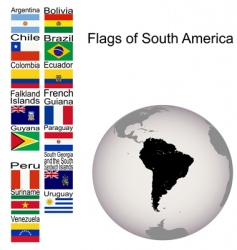flags of south America vector image