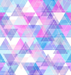 Seamless bright geometric retro background vector image