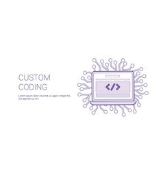 custom coding web banner with copy space business vector image