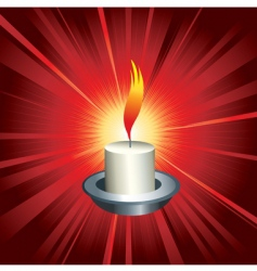 flaming candle vector image vector image