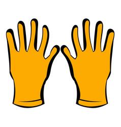 gloves of beekeeper icon icon cartoon vector image