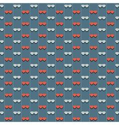 Vintage Hearts Pattern vector image