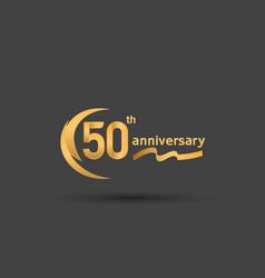 50 years anniversary logotype with double swoosh vector