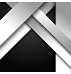 Abstract 3d white and gray stripes diagonal vector