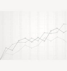 abstract financial ascending linear graph vector image