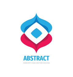 abstract logo design cooperation communication vector image