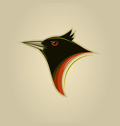 agressive small bird vector image
